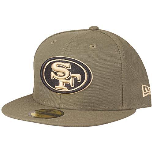 New Era 59Fifty San Francisco 49ers - Gorra, color verde, Unisex adulto Infantil, verde oliva, 7 3/8