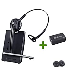 ✅ Bundle of 3 items: Sennheiser D10 Wireless Headset, Sennheiser CEHS adapter for Select Yealink Phones, Global Teck Bonus 2 Pack Leatherette Ear Cushions ✅ Compatibiliy for Yealink IP phones : SIP PHONES - T48S, T48G, T46S, T46G, T42S, T42G, T41S, T...