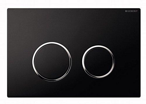 Geberit 115882KM1 Betätigungsplatte Sigma20 für 2-Men-Spülung, hochglanz-verchromt, schwarz