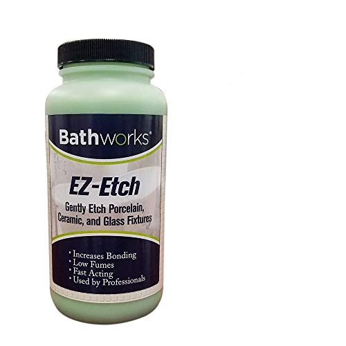 Bathworks EZ Etch Etching Paste; 16oz; Tub, Tile, Wall Surround, Sink, Porcelain, Ceramic, Glass Fixtures; Increase Bonding; Low Fumes; Fast Acting