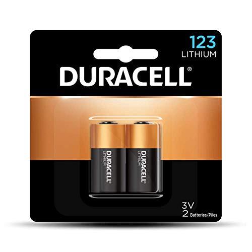 Duracell DL123AB2BPK Ultra High-Power Lithium Battery, 123, 3V, 2/Pack
