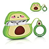AIRSPO Case Compatible with Airpods Pro Cute Cartoon Airpod Case for Kids Girls Teens Boys Fashion Soft Silicone Character Protective Skin for AirPods 3 Carrying Case (Avocado)