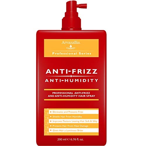 Antifrizz and Antihumidity Hair Spray - Professional Frizz Control , Anti-humidity , Heat Protectant , and Shine Serum by Arvazallia