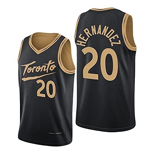 Dewan Hernandez - Maillot de baloncesto para hombre, 2021 New Season Raptors #20 Youth Soul Swingman, tejido transpirable y de secado rápido (S-XXL) L