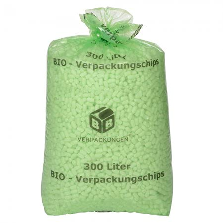 BB-Verpackungen 2 confezioni biologiche (chip per imbottitura antistatiche), set da 300 e 3000 litri