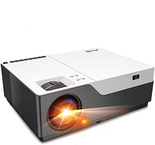 """Projector, Artlii Stone Full HD 1080P Projector Support 4K, 6500L 300"""" Home Theater Projector, 5000:1 Contrast Ratio Compatible w/ HDMI, Laptop, PPT Presentation (Renewed)"""