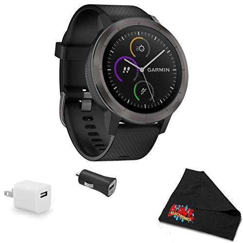 Why Should You Buy Garmin vivoactive 3 (Black with Slate Hardware) Smart watche Bundle with USB Wall...