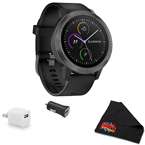 Why Should You Buy Garmin vivoactive 3 (Black with Slate Hardware) Smart watche Bundle with USB Wall...
