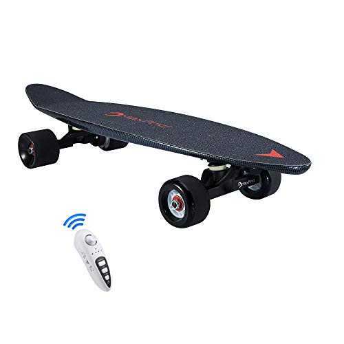 YH-Scooter Elektrische Longboard, Elektro Skateboard 3,7 kg tragbares Würfelmotorfernbedienungs-Elektro-Skateboard, 36 V (10 Batterien) Batterielebensdauer bis zu 13-20 km Mini-Skateboard