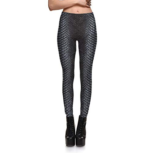 Leggings Fitness Snake Huid Grijs Kleur Stijlen Vrouwen Leggings Stretch Digitale Print Broek Broek Plus Size