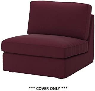 IKEA KIVIK - Slipcover for One-Seat Section Dansbo Red-Lilac (cover only)