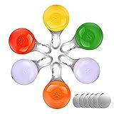 morpilot LED Cane/Gatti Collare, 6pcs Clip-On Pet Luce, Luci Colorate Impermeabili Clip su Luci di Sicurezza a LED, Ideale per Passeggiatori del Bambino e Zaini per Bambini, Inclusi 6 Batterie di Ricambio