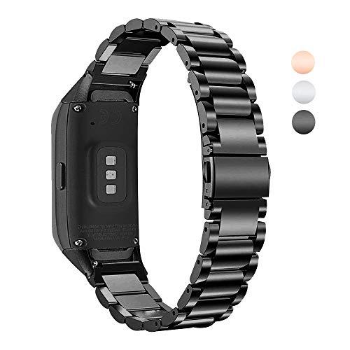 TenCloud Ersatzarmband für Galaxy Fit-Armbänder, Metall, Edelstahl, kompatibel mit Samsung Galaxy Fit SM-R370 Activity Tracker