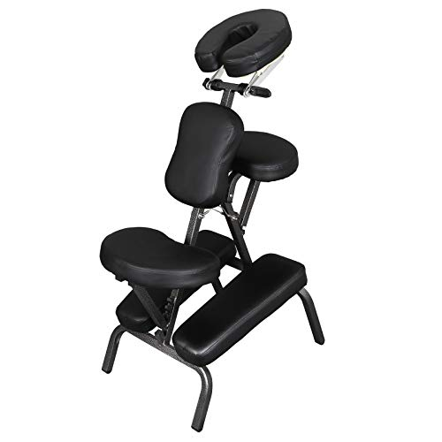 ZENY Portable Massage Chair Adjustable Compact Home Tattoo Spa Therapy Chair Face Cradle Comfortable Thick Foam w/Carrying Bag Case
