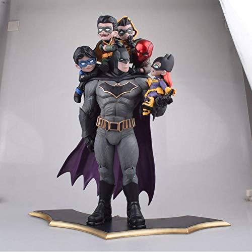 VENDISART Batman Family Statue Figure Toy Robin Catwoman Diorama Brinquedos Figurals Model Toys Anime Batman Collection Figurine