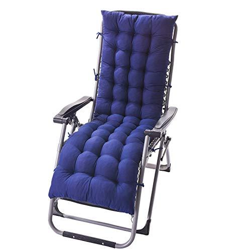 Cojín para Tumbona Patio Chaise, Almohadillas para cojín de Tumbona de Repuesto, Cubierta portátil para Asientos al Aire Libre Acolchada Gruesa para Patio 155*48*8cm (No Incluye sillas)