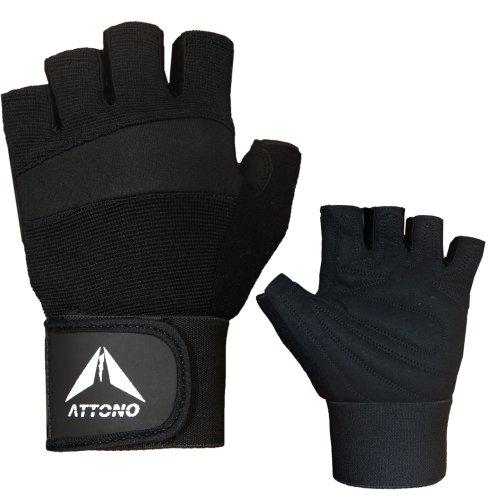 ATTONO Profi Fitness Handschuhe mit Bandage Trainingshandschuhe Fitnesshandschuhe - Größe 8