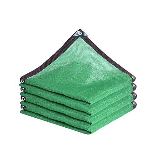 ZZHF Paño Protector Solar Shade Malla de Sombra Verde de 12 Pines, Encriptación Punzón de Dobladillo Protector Solar Paño de Engrosamiento Sombreado Techo Sol Aislamiento Térmico Malla Malla Parasol