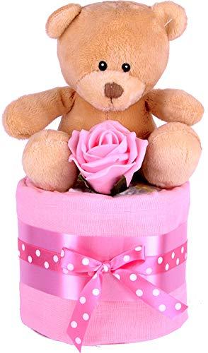 PureNappyCakes Pasteles de pañales con relleno profundo para niñas (mini)