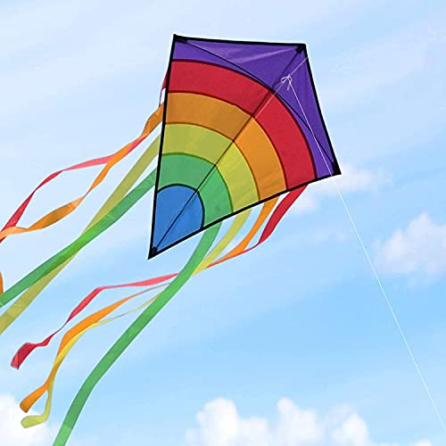 Riesige Bunte Drachen, große Easy Flyer Rainbow Drachen für Erwachsene Im Freien leicht fliegen bei starkem oder leichtem Wind 74 * 65cm