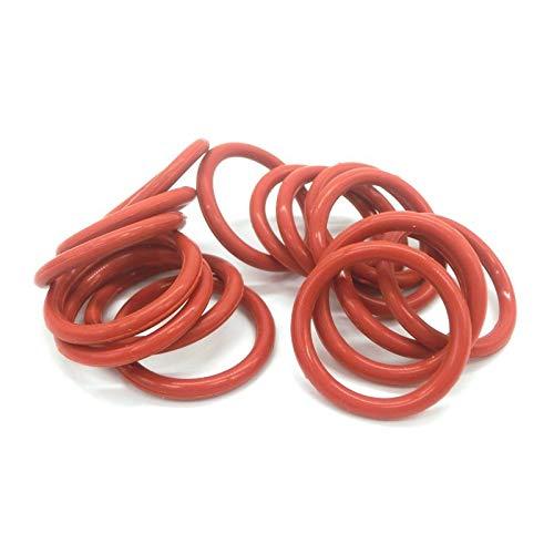 NO LOGO W-NUANJUN-Spring, 10pcs 3.5mm CS-O-Ring-Dichtung Dichtung Red Silicon OD 80mm-200mm O-Ringe Dichtung Hohe Temperaturbeständigkeit O Typ Ring-Dichtungen Washer (Größe : 92x85x3.5mm)