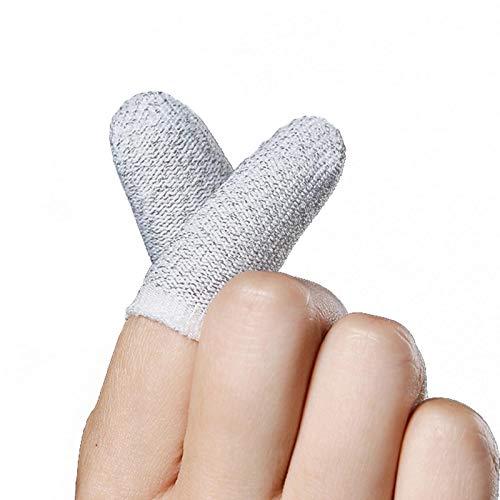 thorityau Handy-Spiel-Finger-Hülle, 1 Paar Touchscreen-Daumen-Hülse Schweißfeste Atmungsaktive Finger-Hüllen Touchscreen Empfindliches Schießen Und Zielen