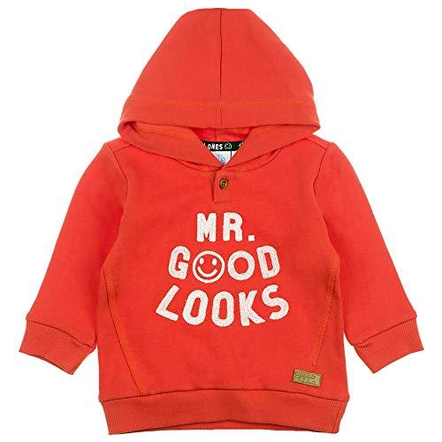 Feetje Baby-Jungen Sweatshirt Hoodie mit Schrift Mr. Good Looks, rot, 80