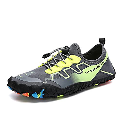 MHXQD Zapatos De Agua Respirable para Hombres Y Mujeres Secado Rápido Zapatos De Deportes Acuáticos Calzado Deportivo para La Playa Kayak Norkeling Navegación Senderismo Surf Caminar,Verde,45