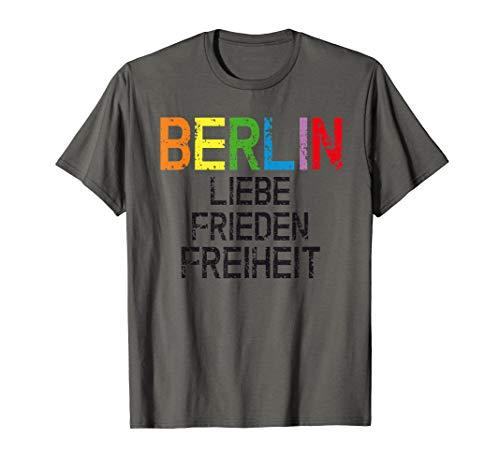 Berlin Deutschland Demo Demonstration Liebe Peace Querdenken T-Shirt