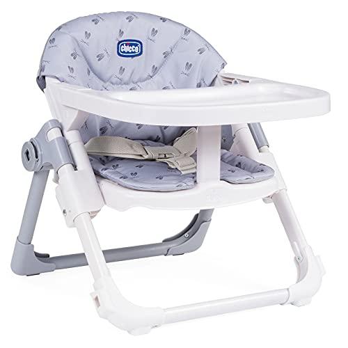 Chicco Chairy Baby Sitzerhöhung 6 Monate bis 3 Jahre (15 kg), Kinderhochstuhl, Verstellbar, Mitwachsender Baby Hochstuhl, Kompakt zu schließen und Abnehmbare Tischplatte