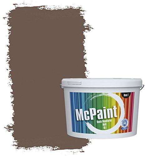 McPaint Bunte Wandfarbe Dunkelbraun - 10 Liter - Weitere Braune und Dunkle Farbtöne Erhältlich - Weitere Größen Verfügbar