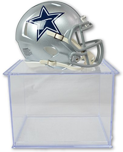 Riddell Official National Football League Fan Shop Authentic NFL Mini Speed Helmet and Display Case Bundle. Great Sports Fan Collectible - Office, Home or Man Cave (Dallas Cowboys)