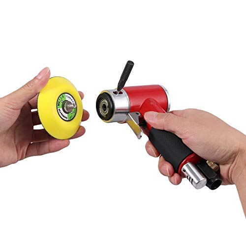MASO Mini pulidora neumática lijadora angular amoladora con 2 almohadillas de 50 mm y 75 mm para coches, motocicletas, calderas, ingeniero de fundición