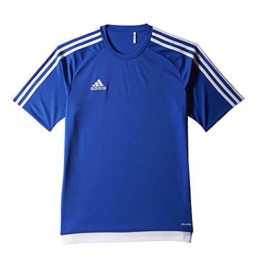 adidas Estro 15 JSY - Camiseta para hombre, color azul ultramar / blanco, talla 164