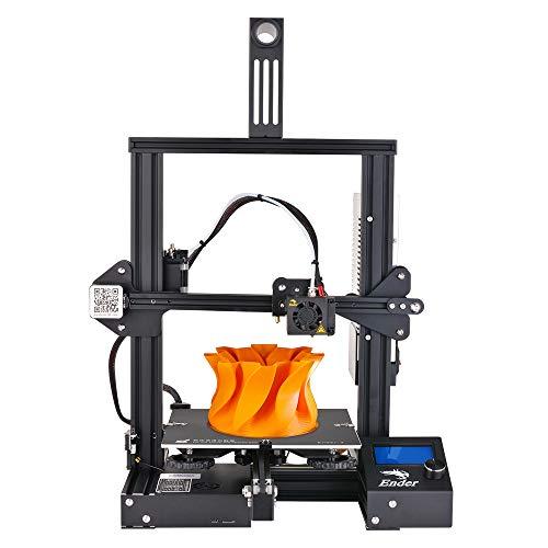 Nidouillet Creality Ender-3 3D Printer,DIY with Resume Printing V-Slot Prusa i3,for Home & School Use, Children 220x220x250mm AB008