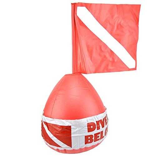 guojiwu 1PC Buceo boya de Superficie Marcador de Buceo Bandera de señal Bola Inflable de Seguridad de PVC sesión buceador Debajo de la Red