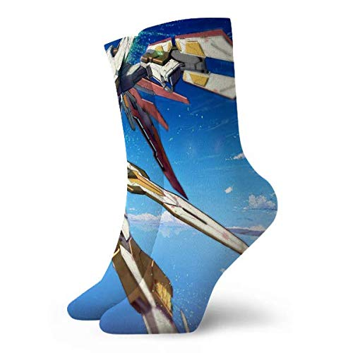 LCYYDECO Freedom Gundam Calcetines Calcetines de mujer y hombre Calcetines de fútbol Medias de tubo deportivas