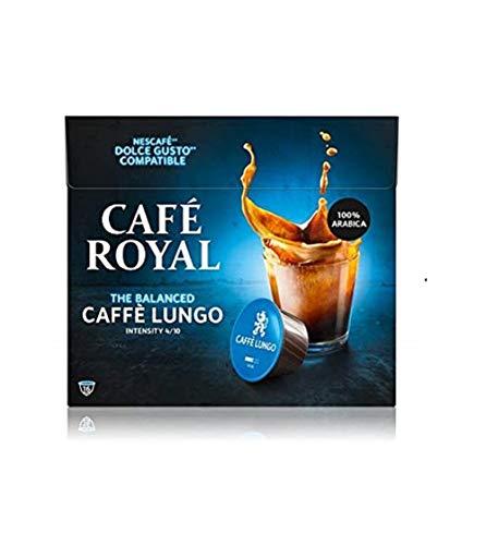 Café Royal Lungo 48 capsules Compatibles avec le système Nescafé (R)* Dolce Gusto (R)* - Lot de 3X16 - intensité 4/10 - certifié UTZ - 100% Arabica