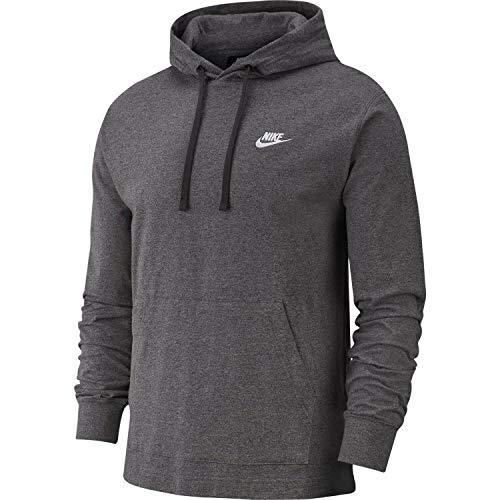Nike Nsw Club - Sudadera con capucha para hombre, Gris, M