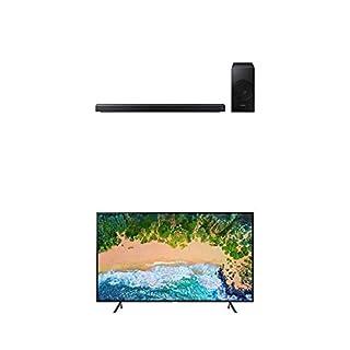 "Samsung UN58NU7100FXZC 58"" 4K Ultra HD Smart LED TV (2018) with Samsung 3.1-Channel Soundbar Home Speaker, Charcoal, Set of 2 (HW-N550/ZC) Bundle (B07L3MBJRR)   Amazon price tracker / tracking, Amazon price history charts, Amazon price watches, Amazon price drop alerts"
