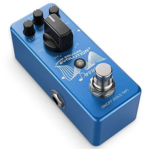 Donner - Pedale a effetto modulazione 7 modalità Chorus, Phaser, Tremolo, Univibe, Vibrato, Flanger