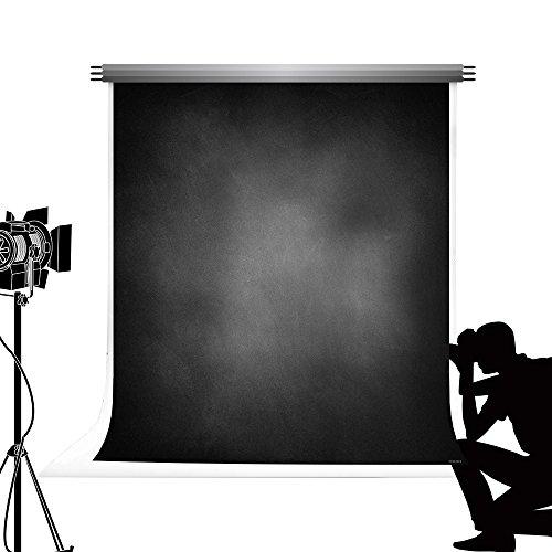 Kate Fondali fotografici a tinta unita nero Seamless Texture di sfondo per studio fotografico per bambini adulti 10X20ft / 3x6m