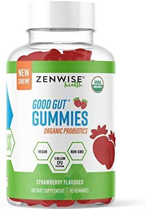 USDA Organic Probiotic Gummies Clinically Studied Immune System Support 5 Billion CFU of Vegan product image