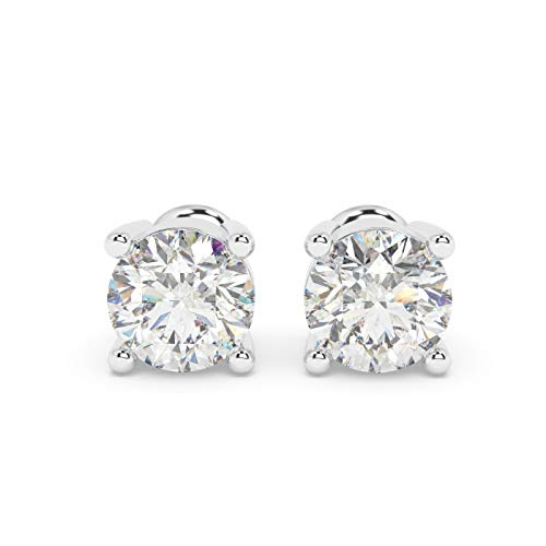 0.30Ct Round Diamond Solitaire Stud Earrings for Women & Girls Crafted in 9k White Gold