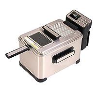 電気フライヤー 卓上フライヤー 家庭用 1300W 4L 6つ温度調節モード 大型タイプ 大容量 揚げ物器 安全設計 ステンレス 調理器具
