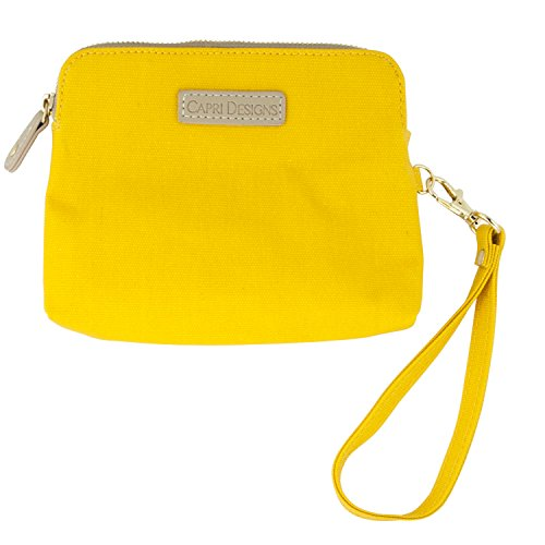 Capri Designs Catchall Fall–gelb Clutch Gameday Handy Handtasche