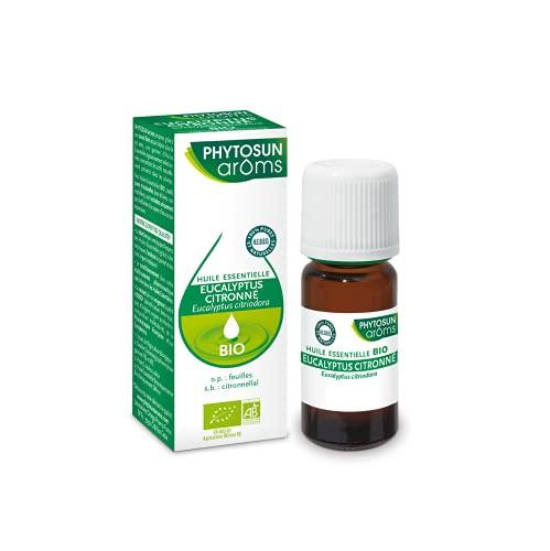 Phytosun Arôms – Huile Essentielles Eucalyptus Citronné BIO - 100% pure et naturelle - 10ml