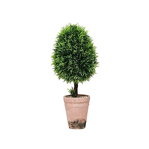 Plantas artificiales de decoración, plantas artificiales en maceta, para salón, plantas grandes en maceta, maceta de adoquinado de celulosa (E)