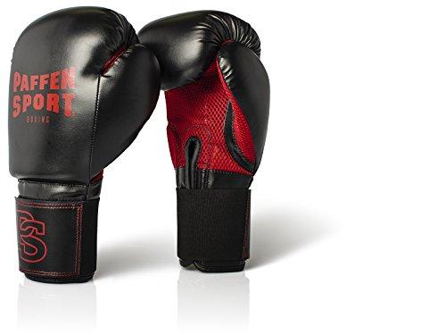 Paffen Sport Allround MESH Boxhandschuhe für das Training; schwarz/rot; 10UZ