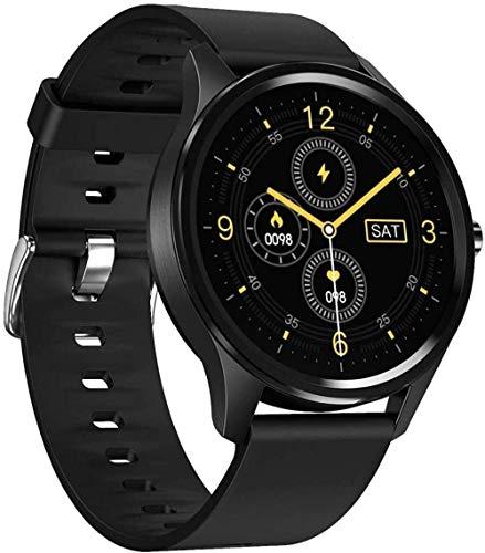Gymqian Pantalla Táctil Circular de 1.3 Pulgadas Bluetooth Smart Watch Admite el Monitoreo de la Frecuencia Cardíaca/Monitoreo Del Sueño/Podómetro/Calorías Actividad Tracker-Blue Moda